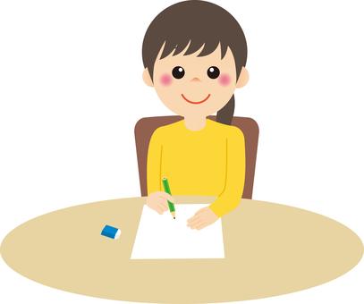 Woman_writing 02