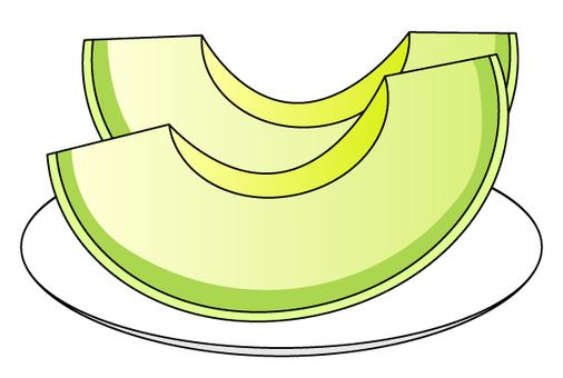Cut melon (blue meat)