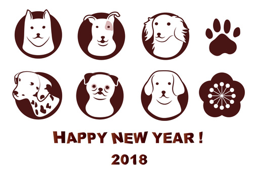 Various dogs for greeting cards