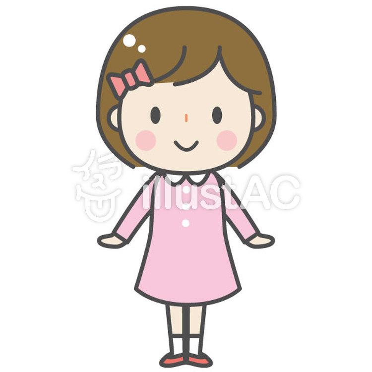 かわいい子ども 女の子イラスト No 1084732無料イラストなら