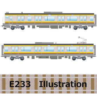 Commuter train E233 series Nanbu line illustration