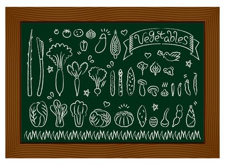 Vegetable blackboard