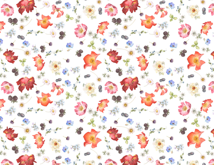Backdrop 5- Wild Rose and Berry Flower Background