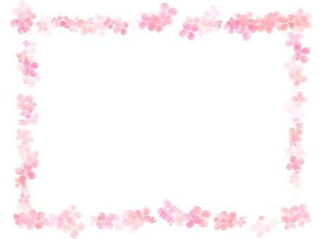 Hydrangea frame ver 04