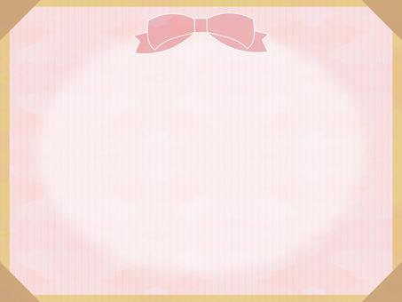 Watercolor ribbon frame