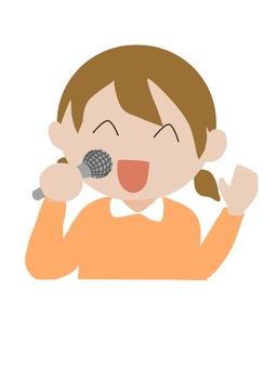歌うお姉さん