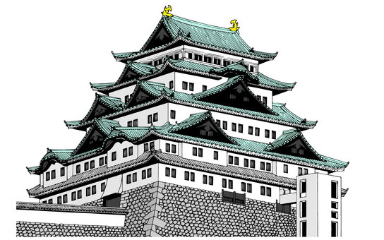 Nagoya Castle (color)