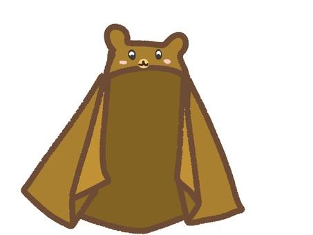 Bath towel with hood