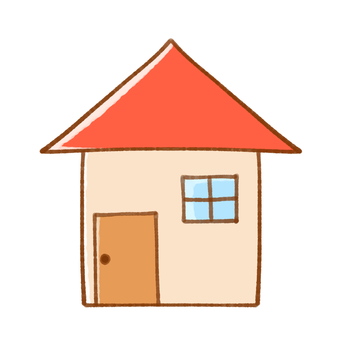 A simple house (red)