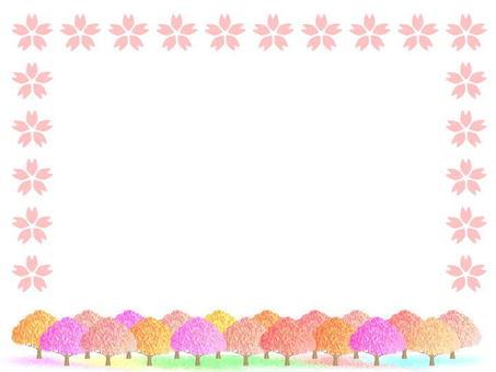 벚꽃길 프레임