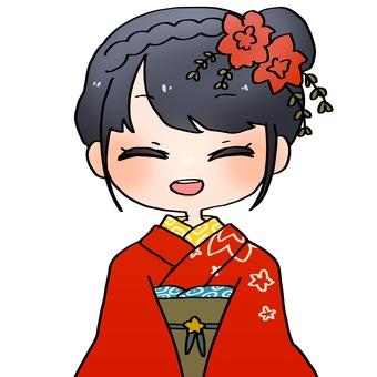 Japanese-style girl (smile)
