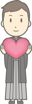 Groom Kimono - Heart - whole body