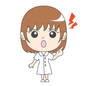 Nurse A: Front: Get angry: Sermon: Kamikazumi