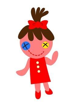 Girls mascot (red)