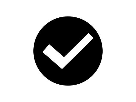 Check check box round black