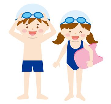 Children _ swimming 01