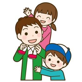 父親和孩子