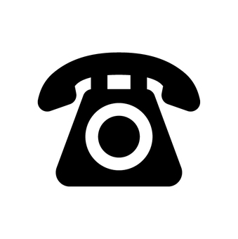 Telephone black telephone number mark