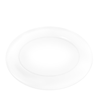 하얀 접시