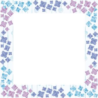 Hydrangea background illustration (square)