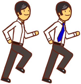 Running men set 3 long sleeves