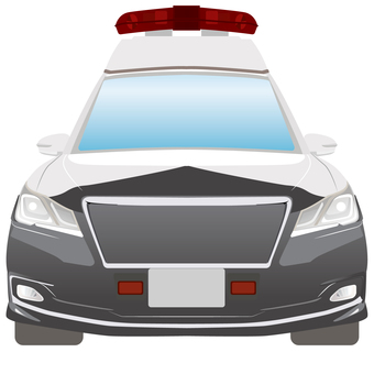 Police car front view