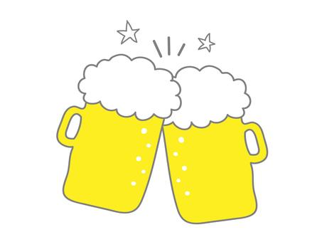 수공 맥주 잔