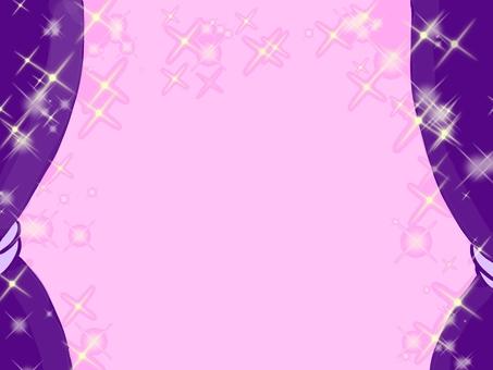 자주색 커튼 배경 핑크