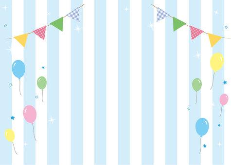Polka dot stripe card (balloon)