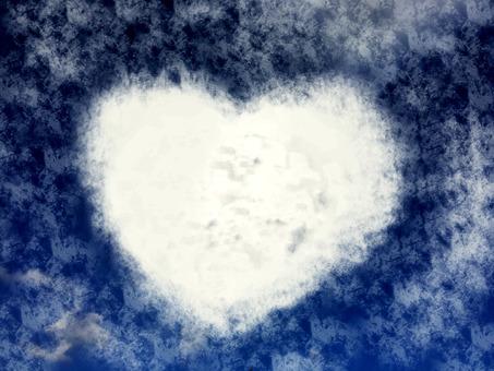 Heart cloud pattern texture 2