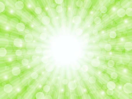 Light background (green / round light)