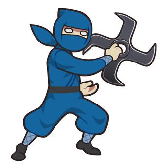 Ninja with a huge shuriken