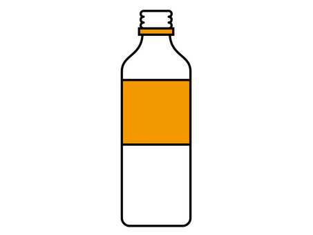 PET bottle beverage container (8) opened orange