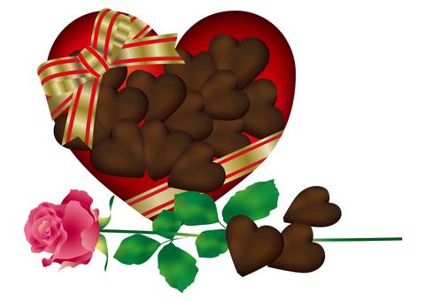 Heart Chocolate & Rose 8