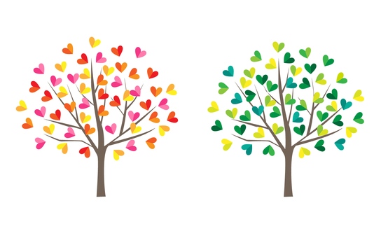 Heart tree set