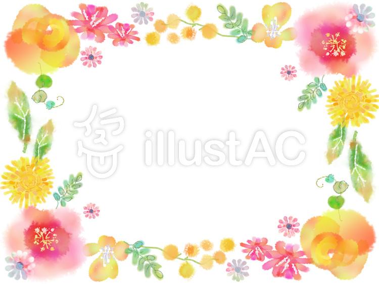 春の花いろいろフレームイラスト No 1062741無料イラストなら