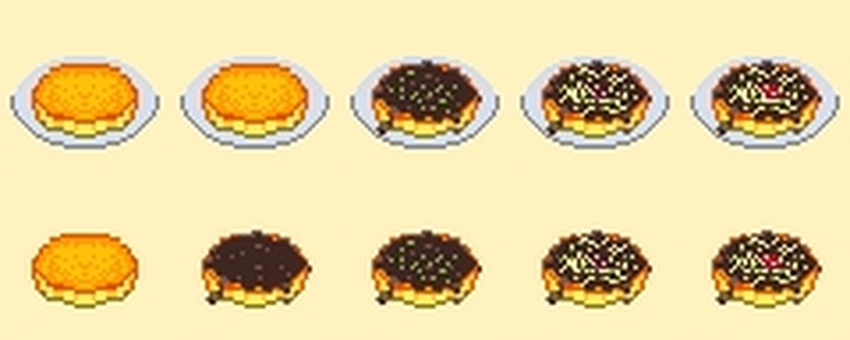 Dot picture Okonomiyaki set