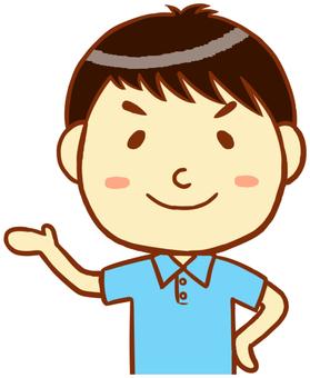 "Polo shirt man (information) ""light blue"""