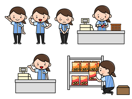 A convenience store clerk