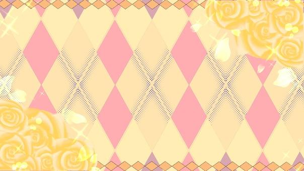 Roses and diamonds yellow