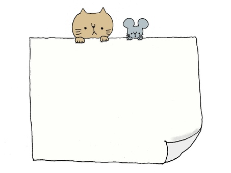 Cat and mouse message board
