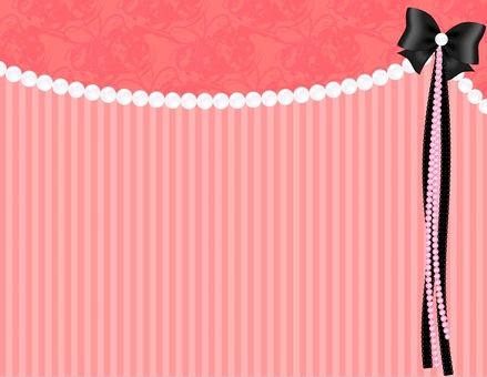 Pearl Ribbon Background _ Pink