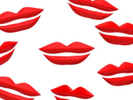 많은 립스틱