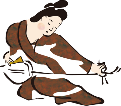 Shamisen player No. 3
