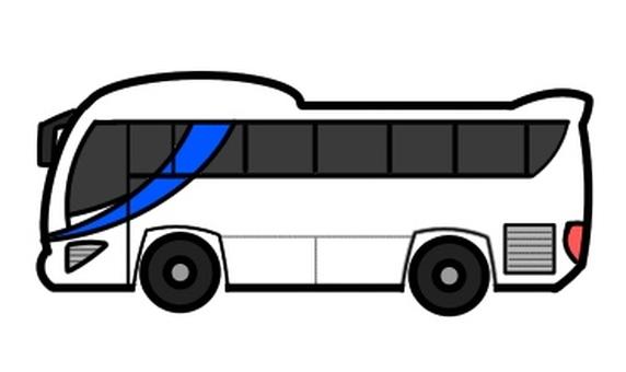 Tourist bus white
