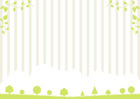自然の風景 リーフフレーム ストライプ