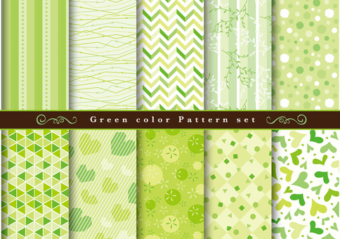 Green pattern set