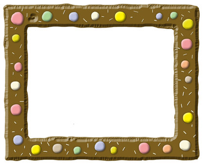 Frame 【sweet chocolate style】 dot