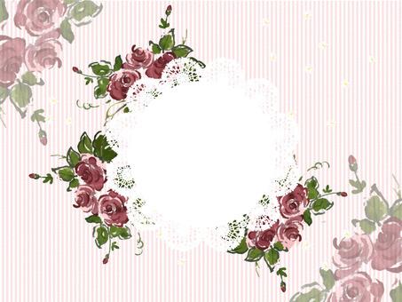 薔薇とレースのメッセージカード
