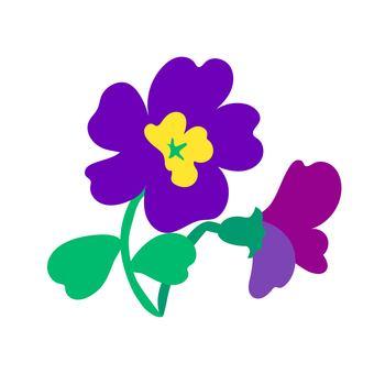 보라색 꽃
